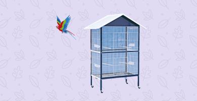 Jaula para pájaros o loros